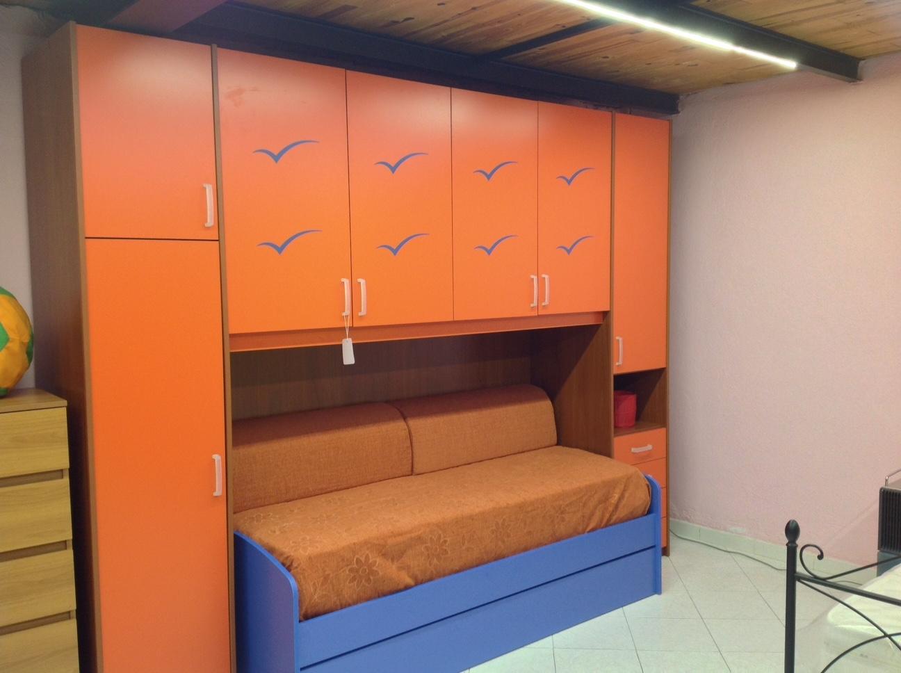 Cameretta Lilla E Arancione : Camerette a ponte arancio e verde: cameretta a ponte per ragazzi