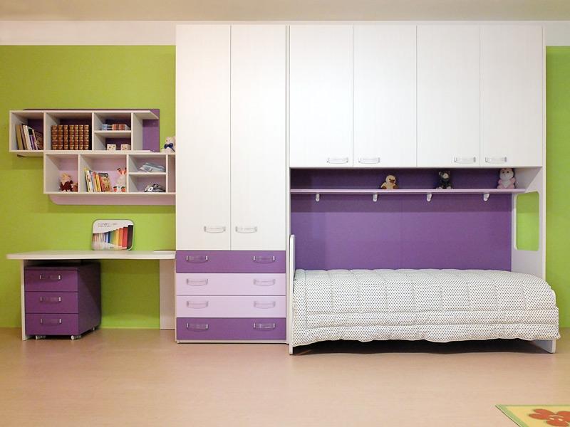 Pareti colorate camerette 30 camerette per ragazzi con - Decori pareti camerette ...