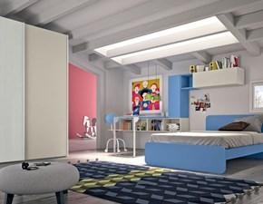 Cameretta A schema libero 9 San martino mobili in laminato opaco in Offerta Outlet