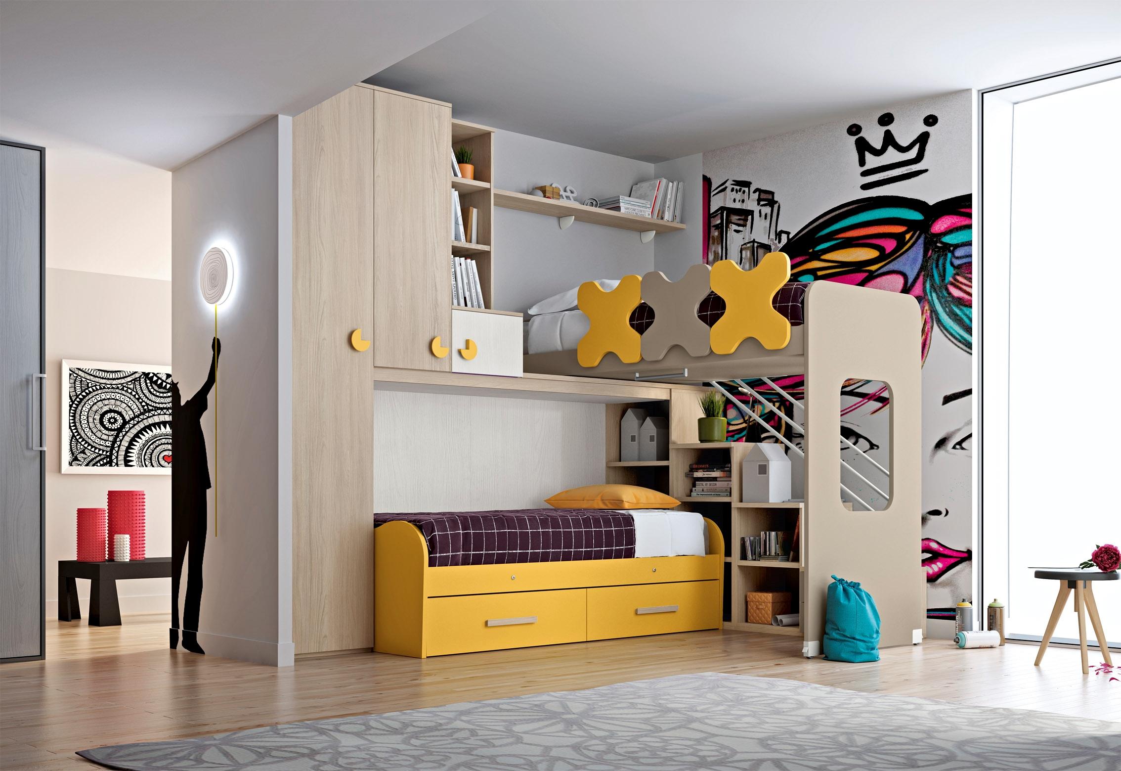 Cameretta per ragazzi scontata camerette a prezzi scontati - Camerette per stanze piccole ...