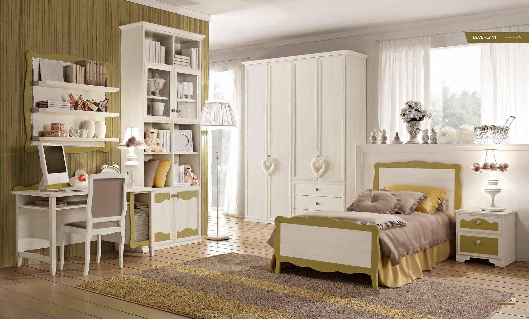 Cameretta Beverly con un letto particolari in legno - Camerette a prezzi scontati