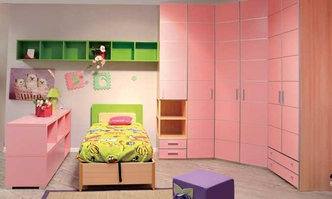 Cameretta bimba rosa recks camerette a prezzi scontati for Cameretta rosa