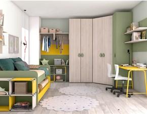 Cameretta C304 Colombini casa in laminato opaco a prezzo Outlet