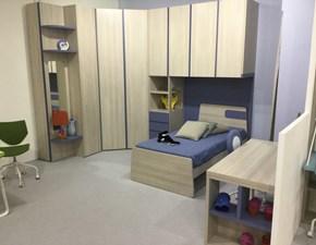 Cameretta Cabina armadio Mistral con letto a terra in Offerta Outlet