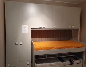 Cameretta Cameretta 2 letti Colombini casa con letto a soppalco scorrevolein offerta