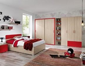 Cameretta Cameretta con letto 1/piazza e1/2 con contenitore in promo-sconto 30% Gruppo silwood in laminato materico in Offerta Outlet