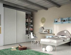 Cameretta Cameretta con scrittoio a parete di mistral scontata del 35% Mistral in laminato materico a prezzo Outlet