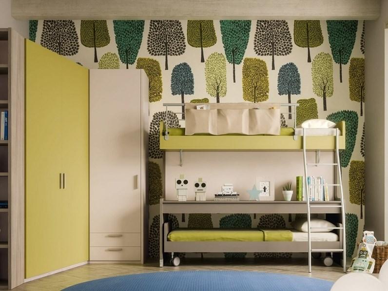 Cameretta Cameretta mod.energy con letto-castello ...