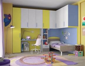 Cameretta Smart letto con il contenitore e cabina armadio