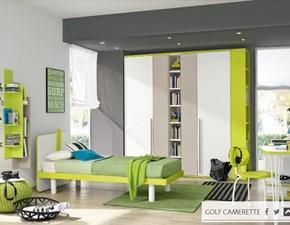 Cameretta Colombini modello C516 linea Golf. Cameretta per bambini comprensiva di letto, armadio, scrivania, sedia e vari cubolotti.