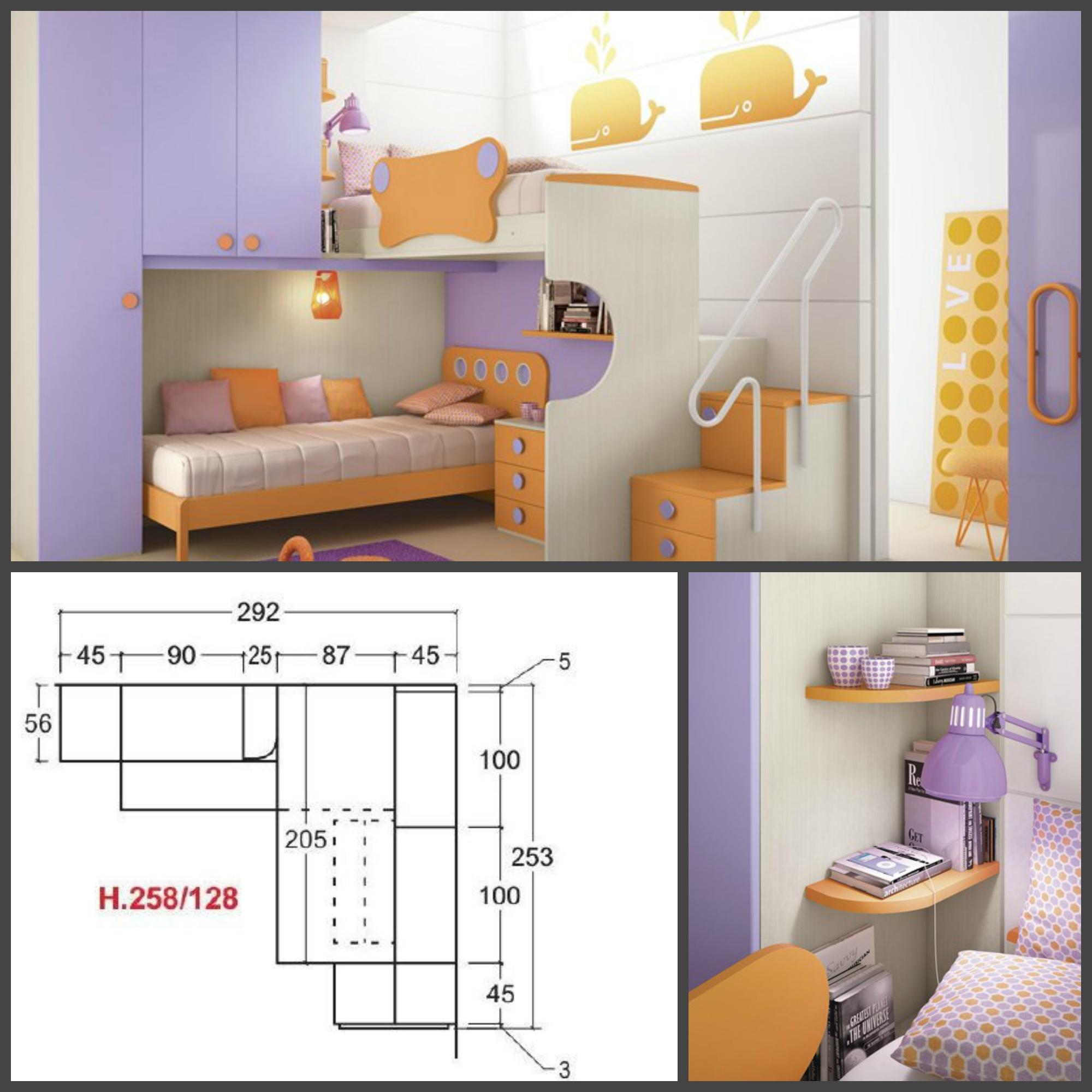 Camerette A Soppalco Misure ~ Idee Creative su Design Per La Casa e ...