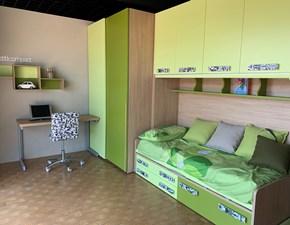 Cameretta Compact Moretti compact con letto a ponte a prezzo Outlet