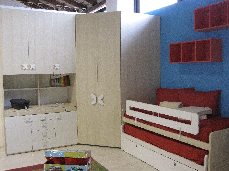 Cameretta completa con doppio letto camerette a prezzi for Cameretta doppio ponte