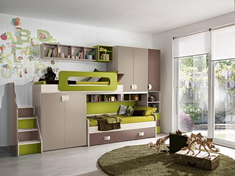 Cameretta mod.sandy Gruppo silwood con letto a soppalco in Offerta ...