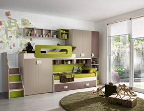 Cameretta mod.sandy Gruppo silwood con letto a soppalco in Offerta Outlet