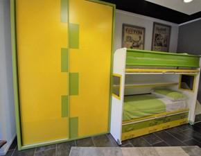 Cameretta Composizione gialla e verde Moretti compact con uno sconto del 53%