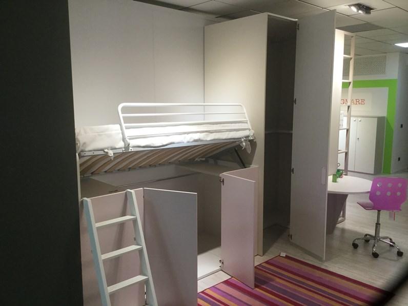 Cameretta contanier dielle con letto a soppalco in offerta outlet - Camerette con letto a soppalco ...