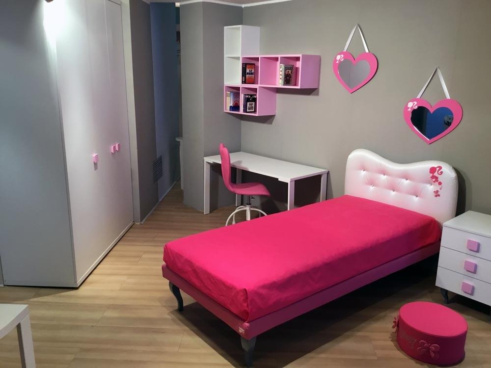 Cameretta doimo cityline barbie colore bianco laminato for Cameretta rosa