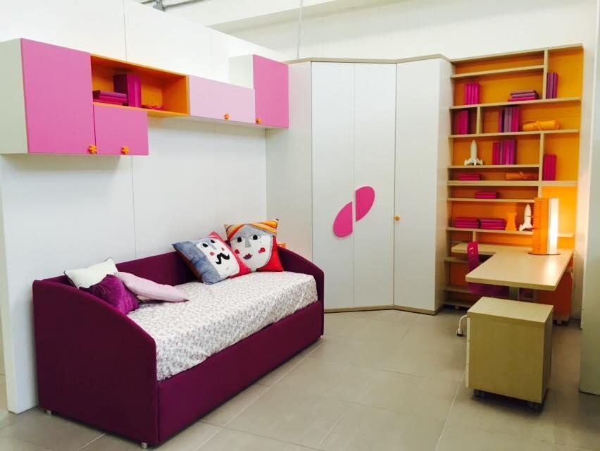 Cameretta doimo cityline con cabina armadio e piano studio - Camerette con cabina armadio ...