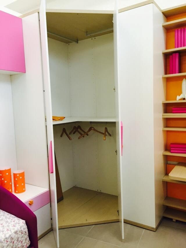Cameretta doimo cityline con cabina armadio e piano studio for Cameretta armadio