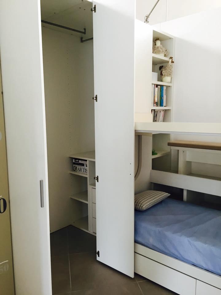 Cameretta doimo cityline con castello scrivania e cabina for Cameretta armadio