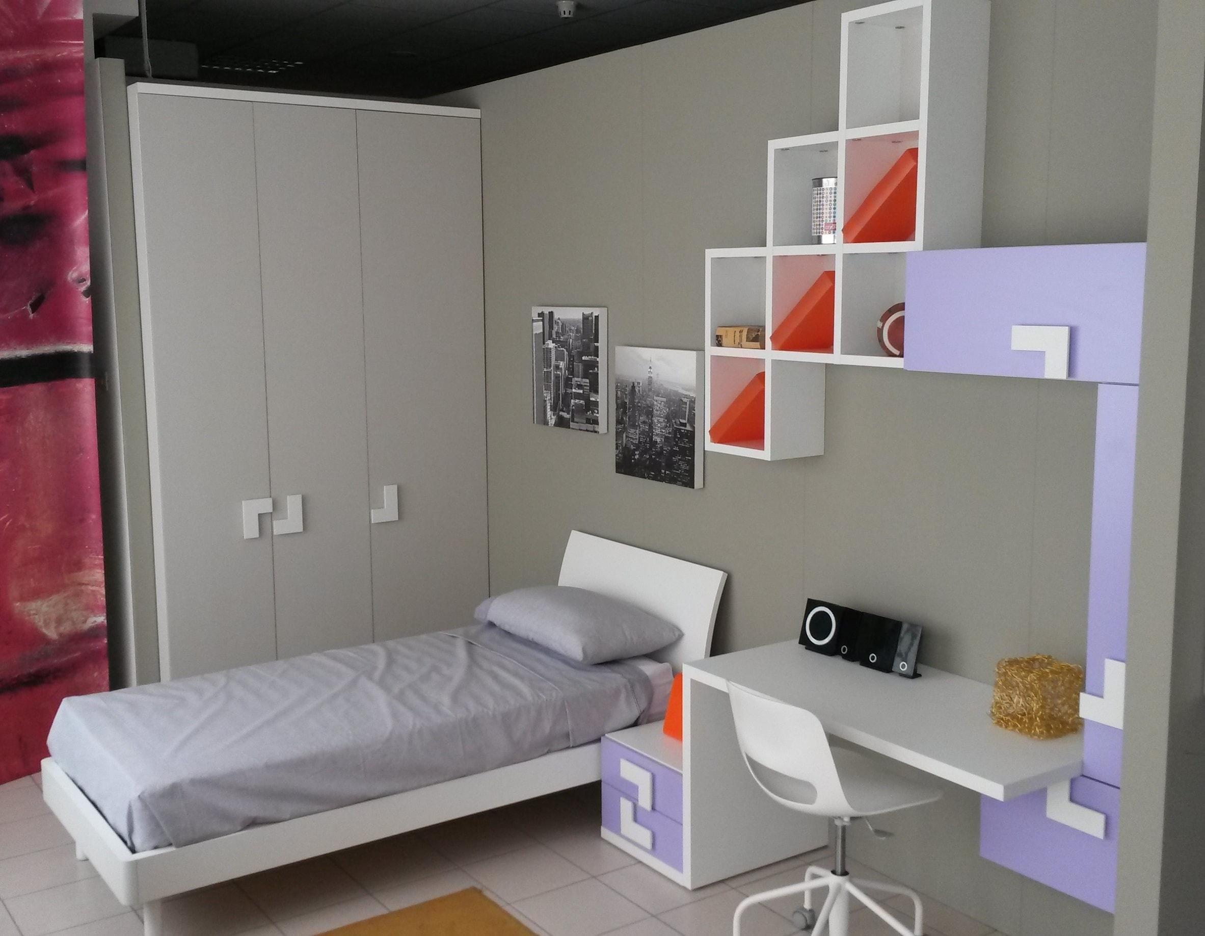 Cameretta doimo cityline over letto a terra camerette a for Crea cameretta