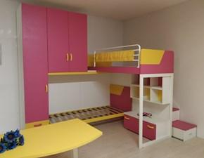 Cameretta Fantasy,lampone e banana Zg mobili con letto a castello a prezzo Outlet