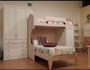 Cameretta Fiore svendita per rinnovo prezzo outlet Callesella con letto a castello in Offerta Outlet