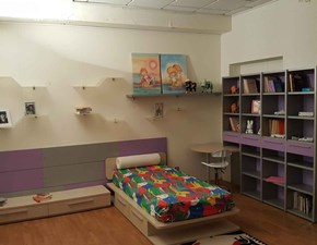 Cameretta Homes Nardi interni con letto a terra in Offerta Outlet