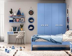 Cameretta in laccato opacoCameretta color blue con armadio  Md work scontata 44%