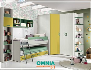 Cameretta in laminato opacoCameretta mod.omnia-s con letti-sovrapposti in promo-sconto del 45% Gruppo silwood scontata a PREZZI OUTLET