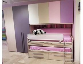 Cameretta Kids 1 Moretti compact con letto a terrain offerta