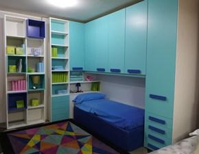 Cameretta Kids collection Moretti compact con letto a terra a prezzo Outlet