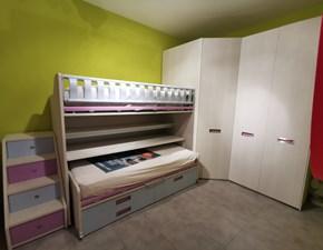 Cameretta Kids Moretti compact in laminato opaco a prezzo scontato