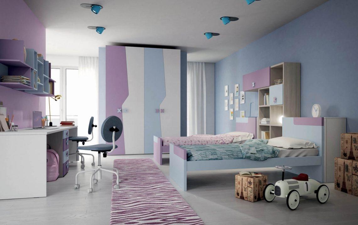 Cameretta letto a terra 103 di mistral scontata for Camere da letto per bambini
