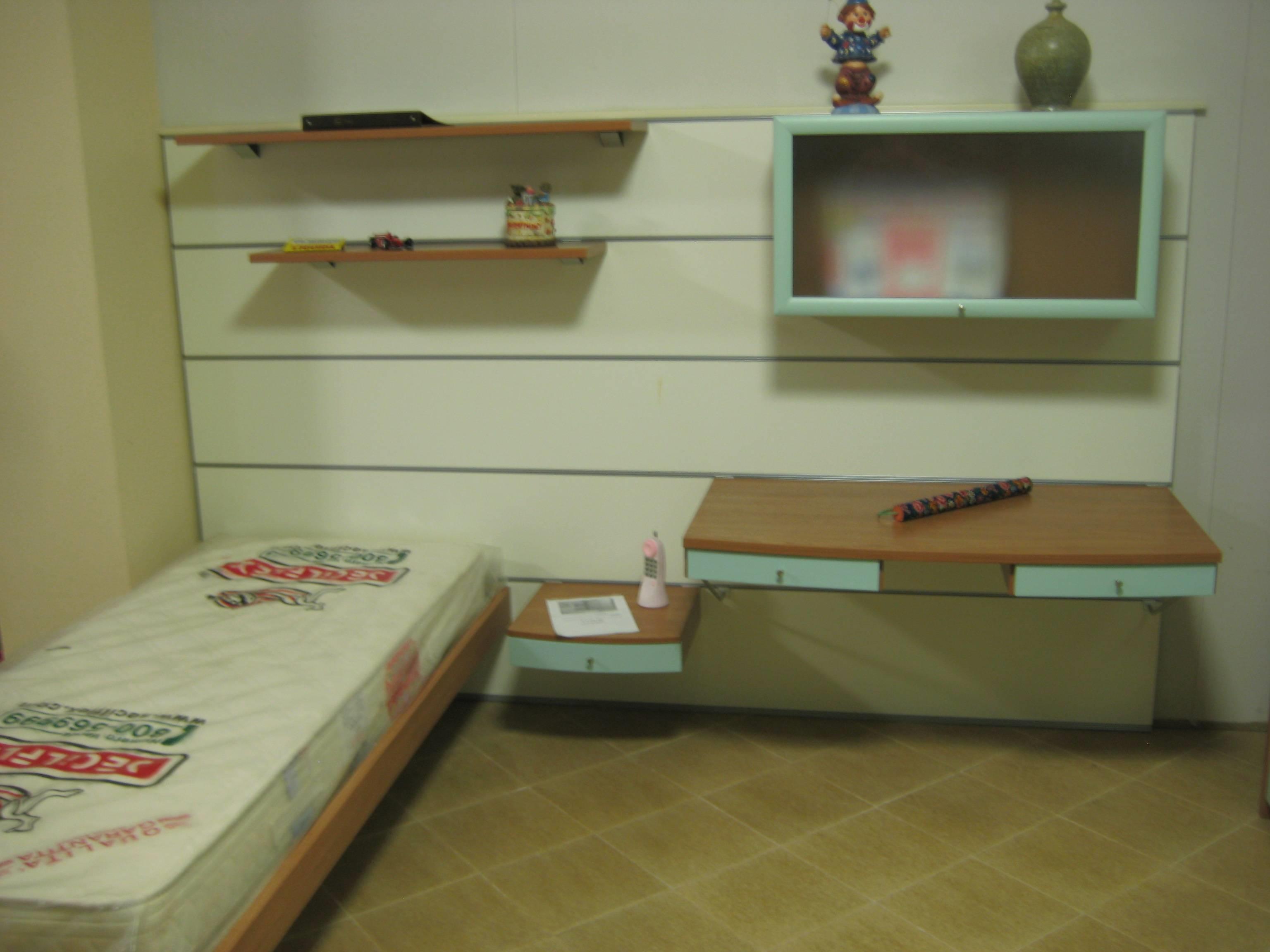 Cameretta marca faer con boiserie larga circa 260 cm camerette a - Scrivania camera da letto ...