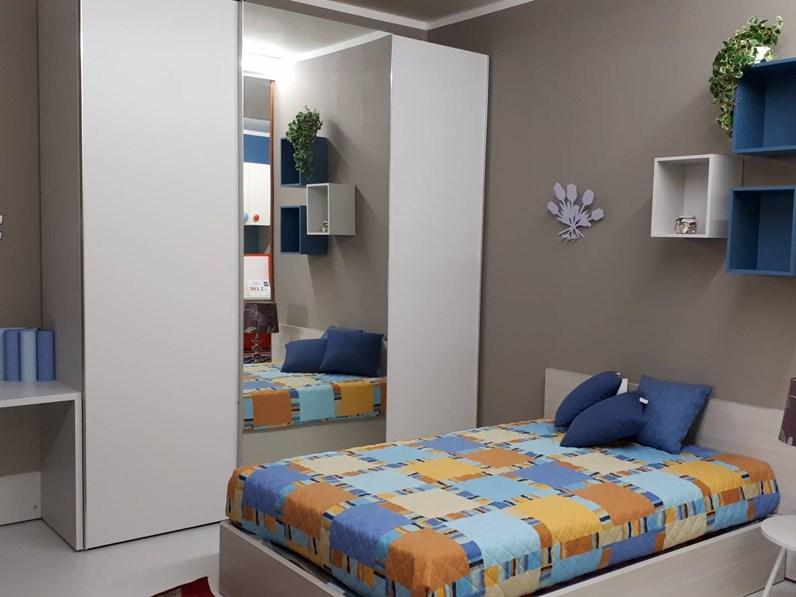 Cameretta mirtillo nidi camerette con letto una piazza e for Nidi camerette