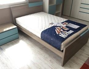 Cameretta Mistral con letto, comodino, armadio e scrittoio