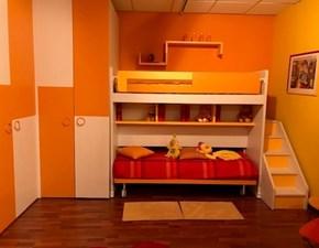 Cameretta Nardi Nardi interni con letto a terra in Offerta Outlet