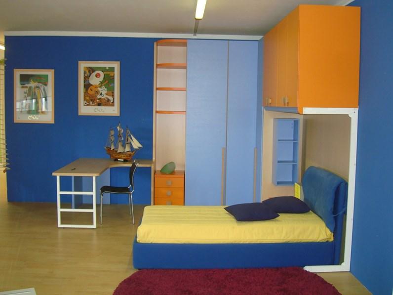 Cameretta oliver blu di zg mobili in offerta outlet for Outlet di mobili
