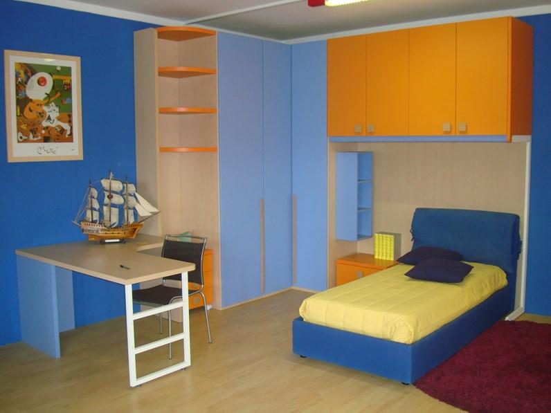Cameretta oliver blu di zg mobili in offerta outlet for Mobili in offerta