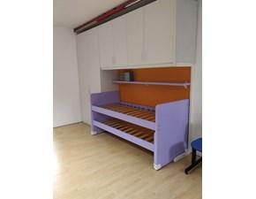 Cameretta Oliver larice sbiancato Zg mobili con letto a castello scorrevolein offerta