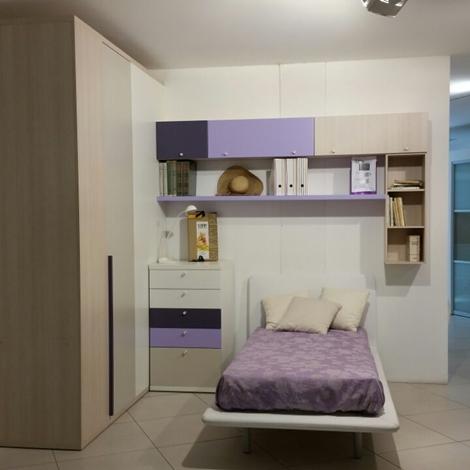 Cameretta singola doimo cityline con cabina armadio zona - Camerette con cabina armadio ...