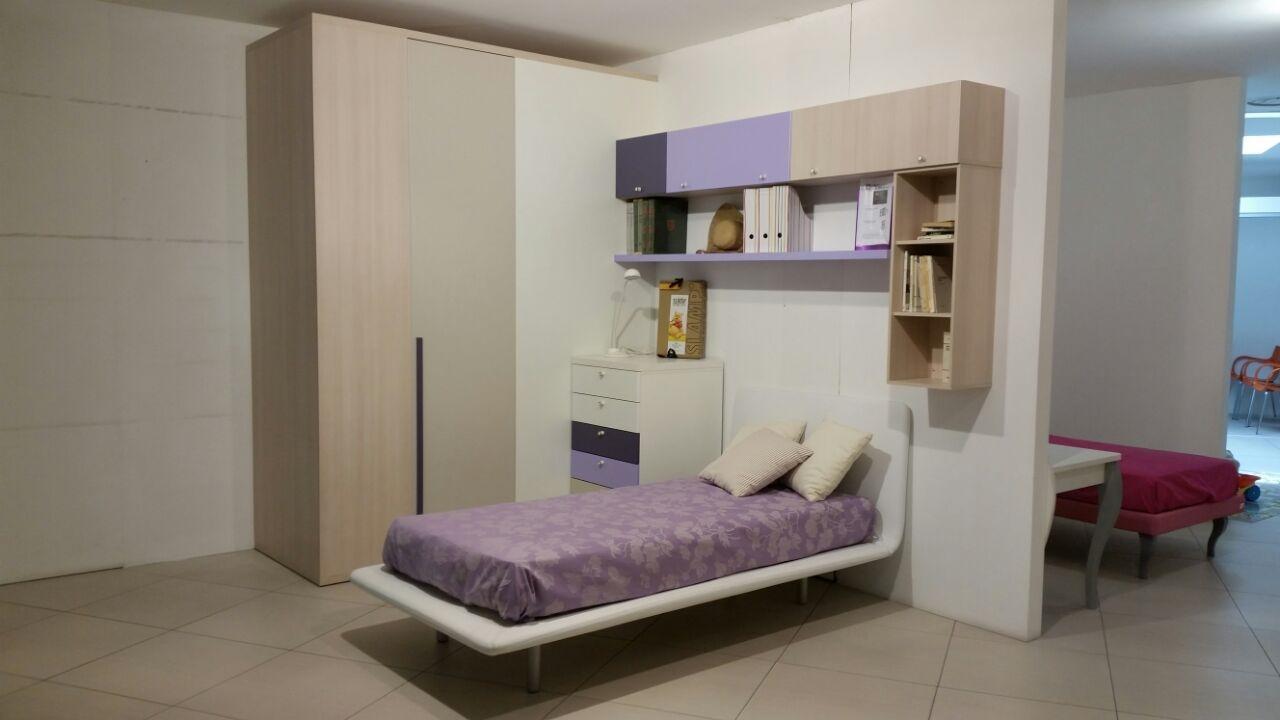 Cameretta singola doimo cityline con cabina armadio zona for Armadio per studio