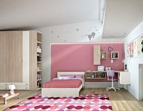 camera completa san martino con armadio a quattro ante battenti e 4 cassetti, scrivania e letto