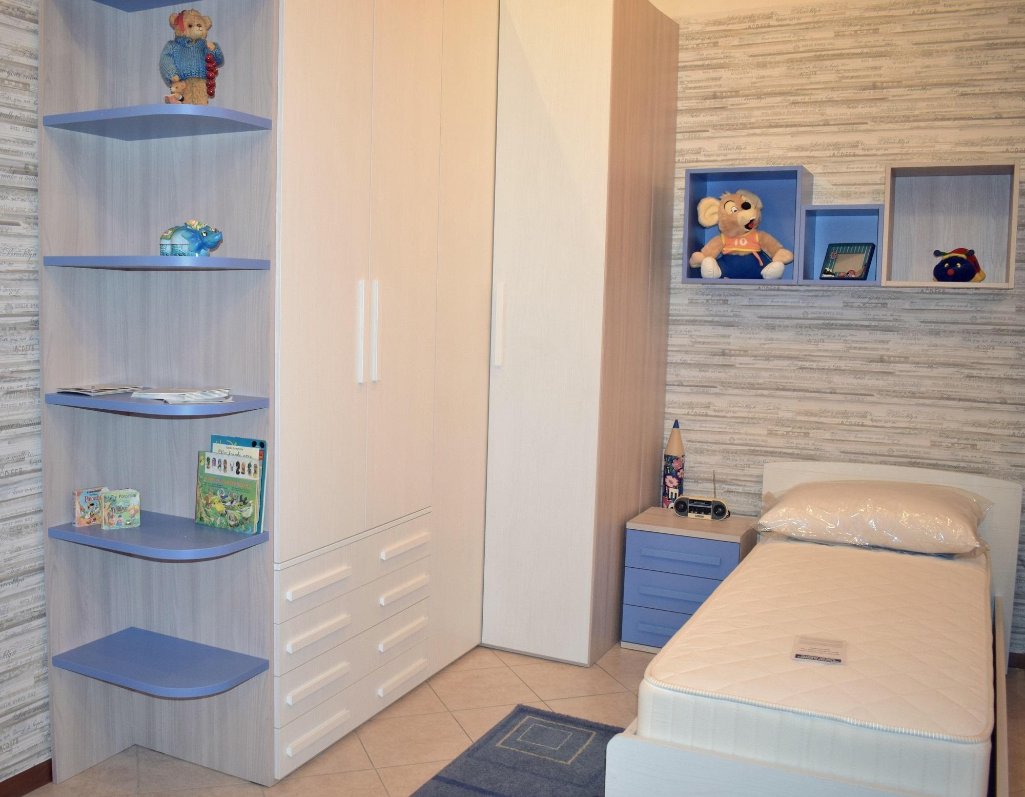 Cameretta smart letto con il contenitore e cabina armadio for Cameretta armadio
