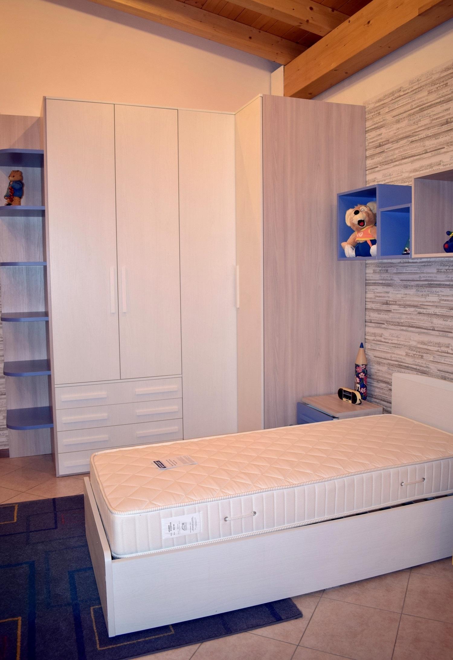 Cameretta smart letto con il contenitore e cabina armadio for Costo per costruire cabina armadio