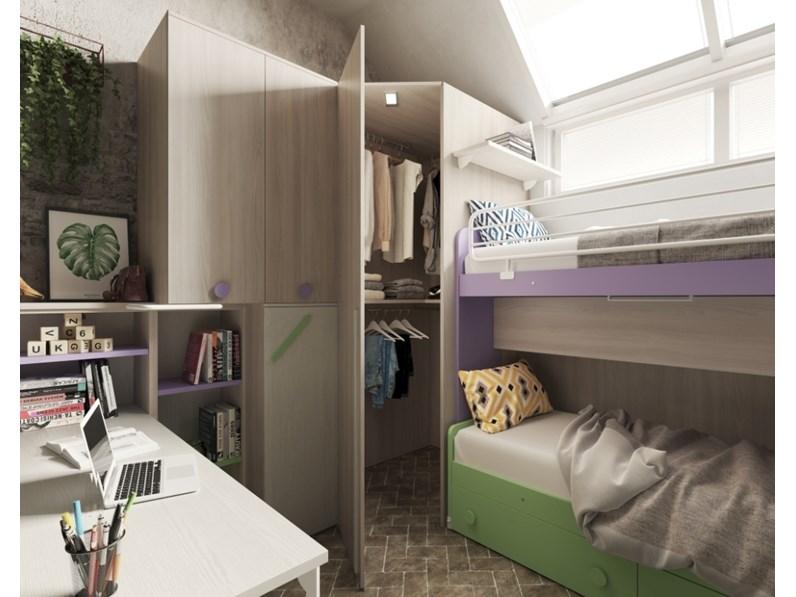 Cameretta Smart San Martino con letto a soppalco cabina ...
