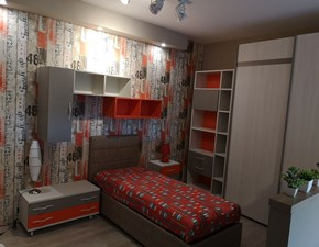 Cameretta Smart San martino mobili con letto a terra in Offerta Outlet