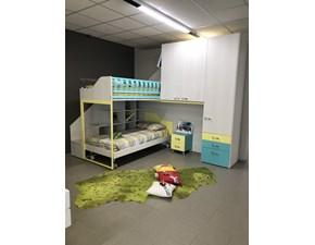 Cameretta Soppalco angolo Moretti compact con letto a soppalcoin offerta